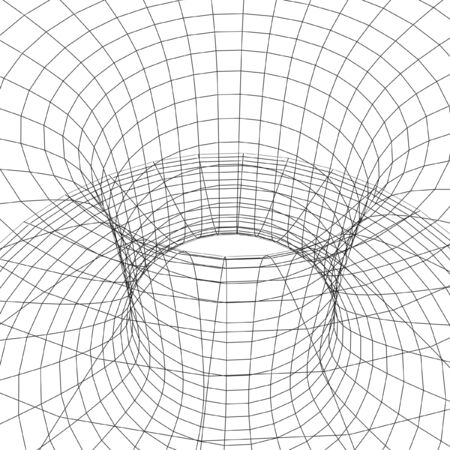 hyperspace: chaos hyperspace frame isolated on white background Stock Photo