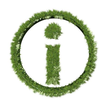 inquiry: grass inquiry symbol isolated on white background