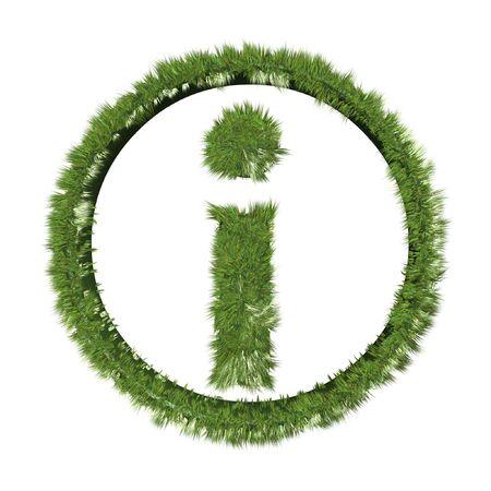 inquiry: grass inquiry symbol isolated on white background
