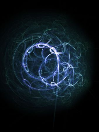 glower: chaos light trace circle on dark background