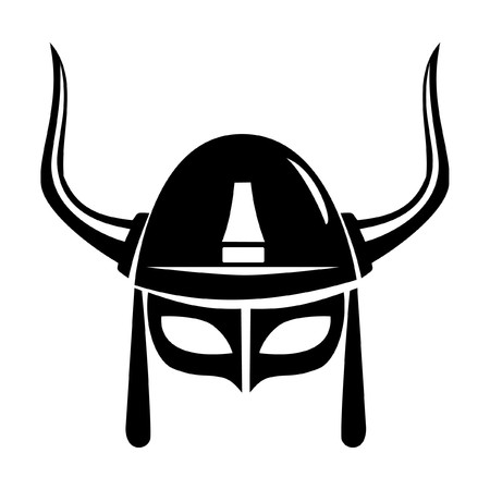 viking helmet vector isolated on white background Vector