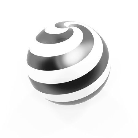 circle spiral sphere isolated on white background photo
