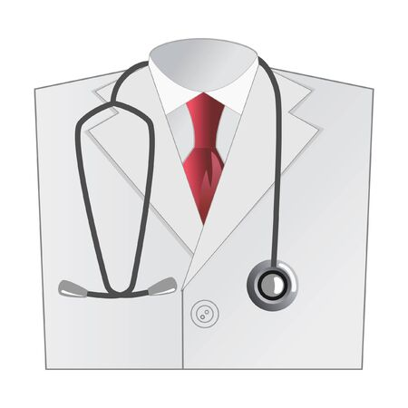 auscultation: medical doctor white coat with stethoscope