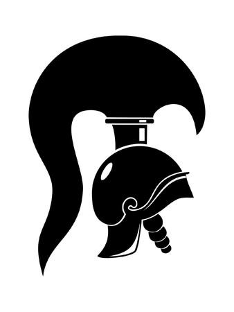 archaeology: rome helmet isolated on white background