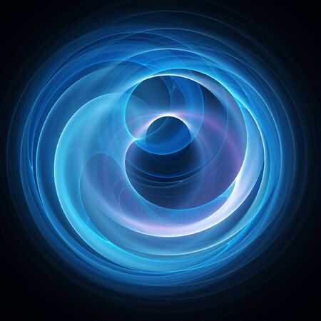 chaos wheel of time travel on dark background Stock Photo