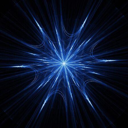 blue flame: blue spider web pattern rays on dark background