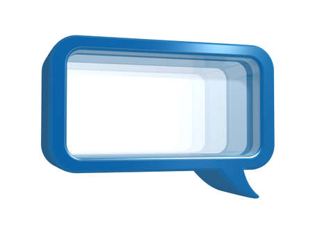 instant messaging: chat frame with glass isolated on white background