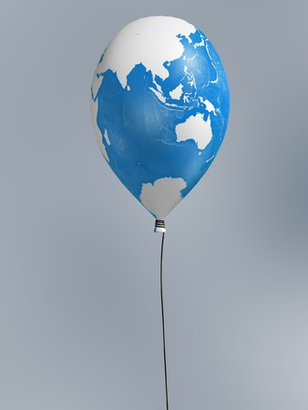 Australia global map balloon on blur background Stock Photo - 8230457