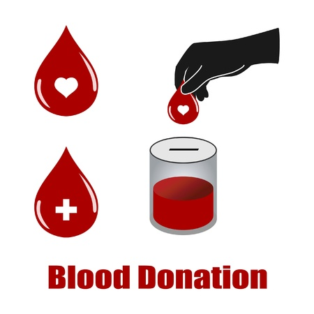 blood donation vectors isolated on white background Vector