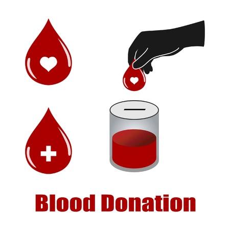 donor: vectores de donaci�n de sangre aislados en fondo blanco Vectores