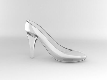 single crystal shoe stand on white background photo
