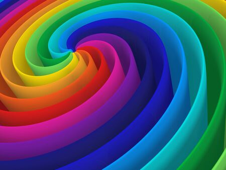 artistic rainbow colorful spiral modern structure background photo