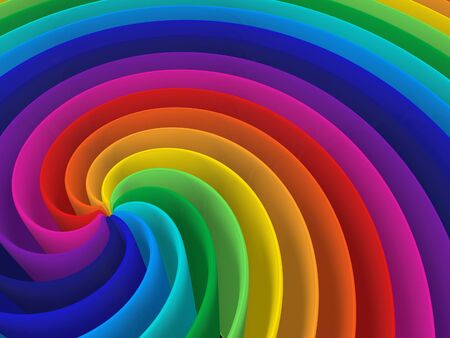 artistic rainbow colorful spiral modern structure background Stock Photo - 8782883