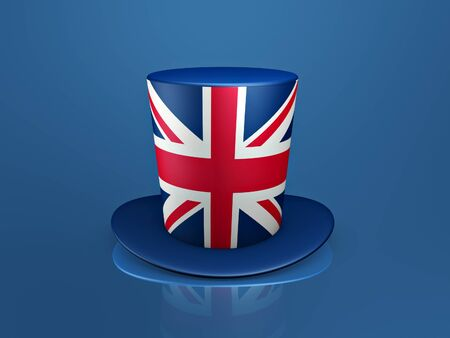 british red cross hat on blue background Stock Photo - 9579932