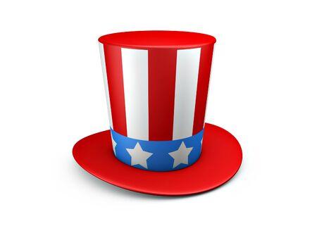 Uncle Sam hat of usa isolated on white background 版權商用圖片 - 9579914