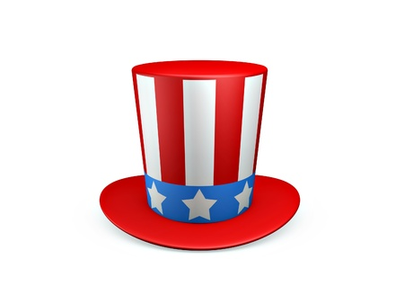 Uncle Sam hat of usa isolated on white background Stock Photo - 9579913