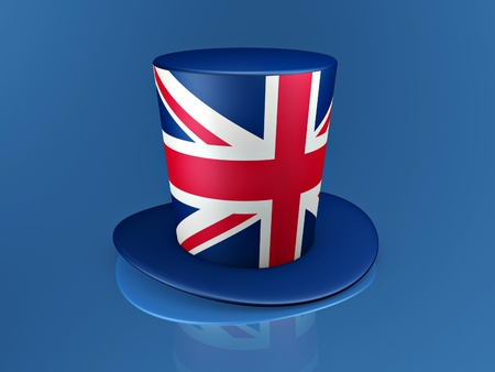 british red cross hat on blue background Stock Photo - 9624951