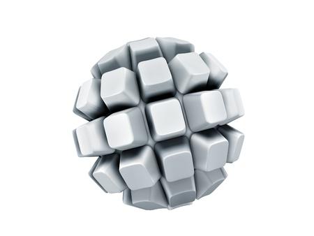 blank keyboard keys sphere isolated over white background Stock Photo - 9770149