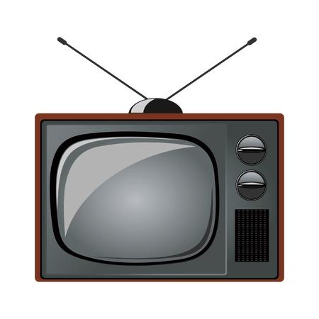 kumpel: alten Fernseher auf wei�em Hintergrund eingestellt