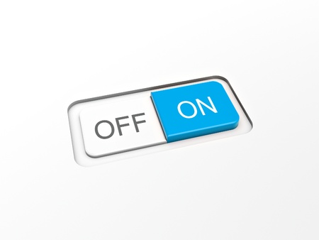 switch on off button on white board Stock Photo - 10348835