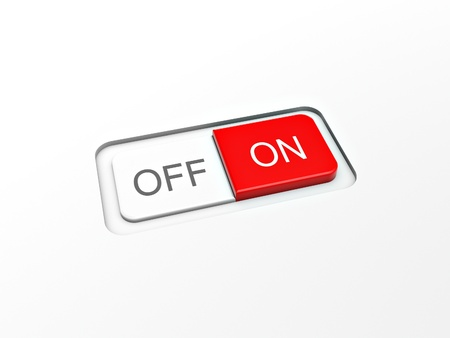 switch on off button on white board Stock Photo - 10348834