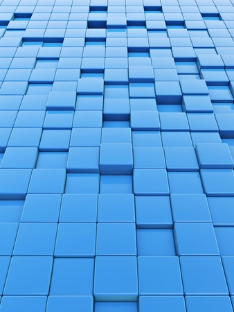 bumpy: 3d box floor on white background