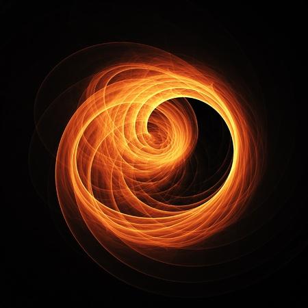 ray trace: disparar rayos de anillo de remolino sobre fondo oscuro