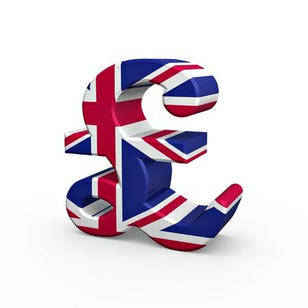 pound: pound flag texture symbol isolated on white background
