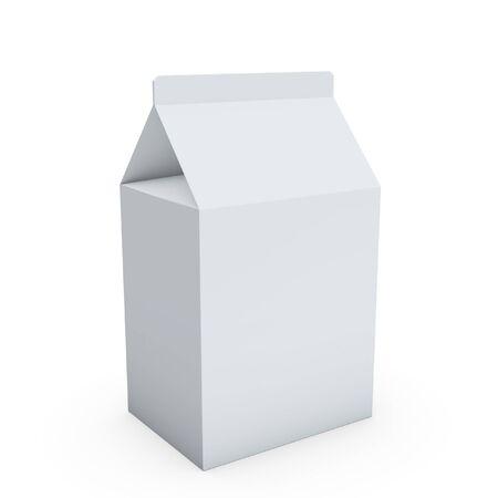 caja de leche: caja de leche en blanco sobre fondo blanco de mesa