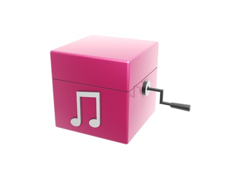 music box: 3d music box isolated on white background