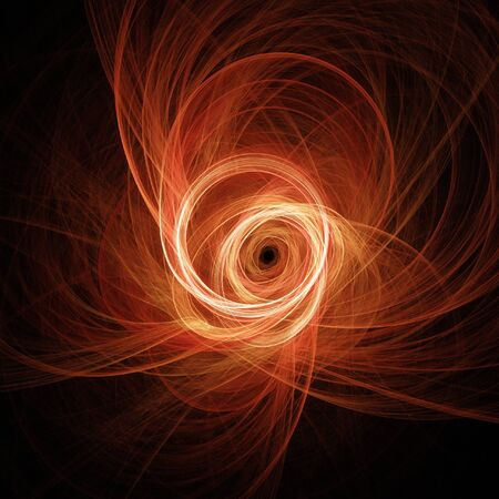 whirlwind: storm Whirlwind light on dark background Stock Photo