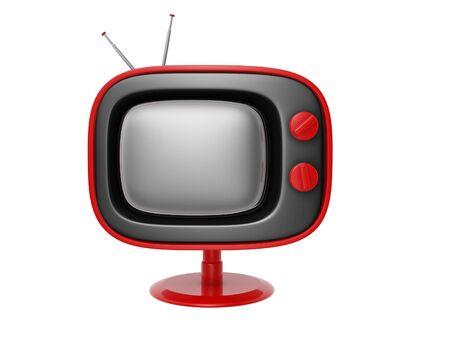retro tv set isolated on white background Stock Photo - 12321472