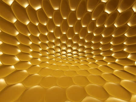 glowing golden fish, snake, python scales background photo