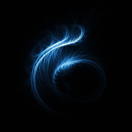 powerful aura: aura silk feather rays on dark background