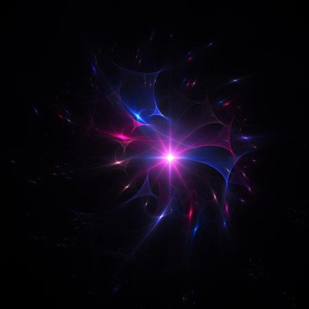 powerful aura: colorful space aura rays on dark background