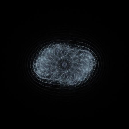bacteria cell: danger bacteria cell on dark background