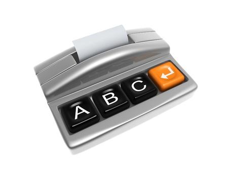 sliver: sliver printer with keypad isolated on white background