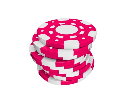 chips stack: casino chips  stack isolated on white background