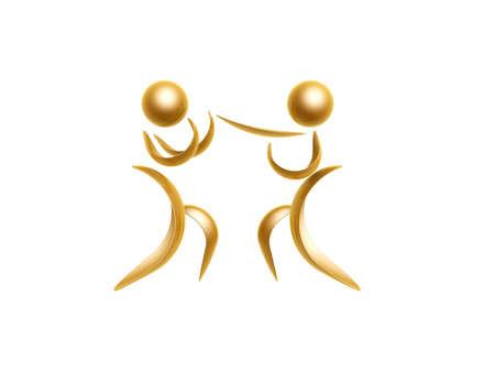 judo: golden sports athlete symbol isolated on white background