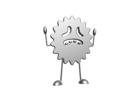 hellion: bacteria ghost of halloween isolated on white background Stock Photo