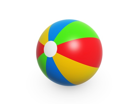 colorful summer beach ball isolated on white background Stock Photo