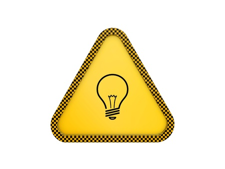 triangle button: yellow warning triangle isolated on white background
