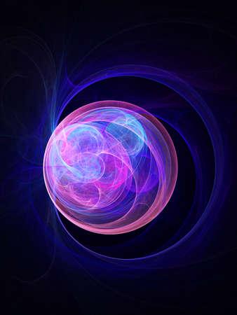 eye ball: colorido globo ocular de los sue�os en el fondo oscuro Foto de archivo