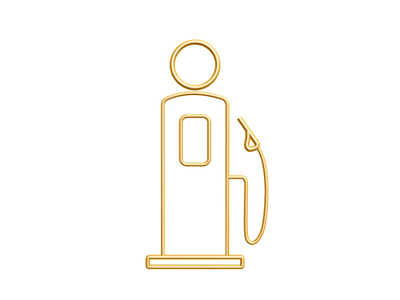 golden gas station symbol isolated on white background Stock Photo - 22502776