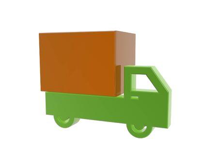 cargo truck symbol isolated on white background Stock Photo - 22502825
