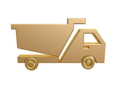 golden tipper symbol isolated on white background Stock Photo