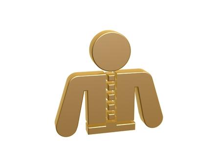 steward: golden waiter symbol isolated on white background
