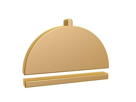 cloche: dinner cloche plate cover symbol isolated on white background Stock Photo