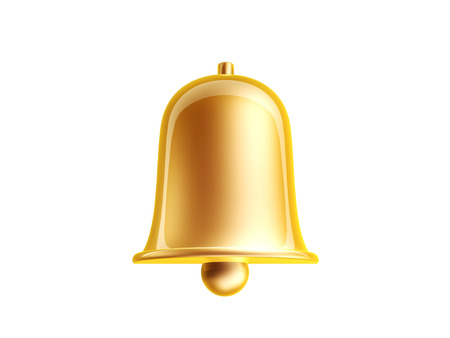 golden bell isolated on white photo