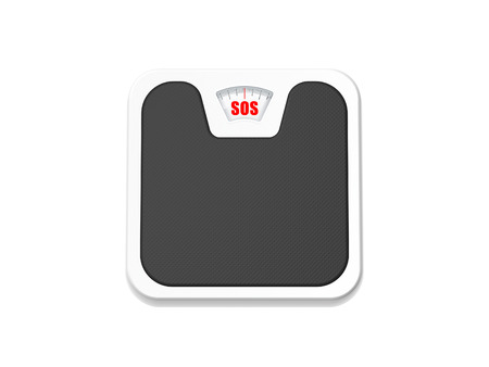 bathroom weight scale: bathroom scale sos isolated on white background